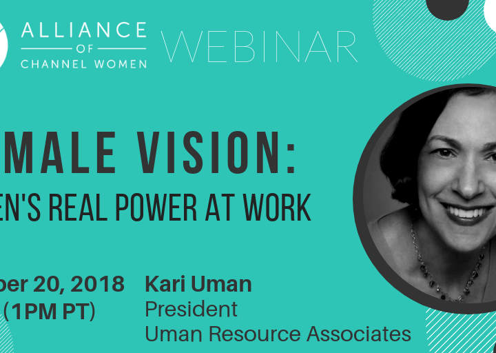 Female Vision: Women's Real Power at Work – December 20th Conference Call