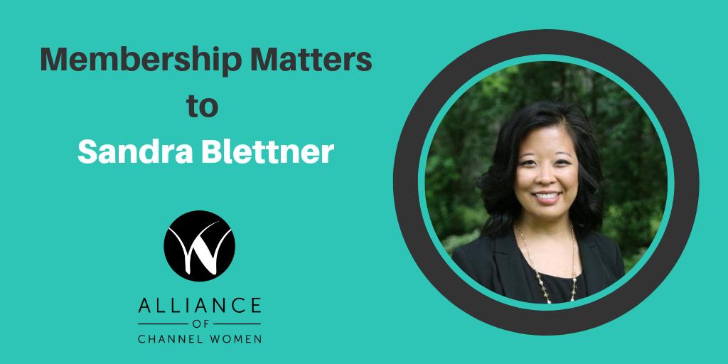 Membership Matters to Sandra Blettner