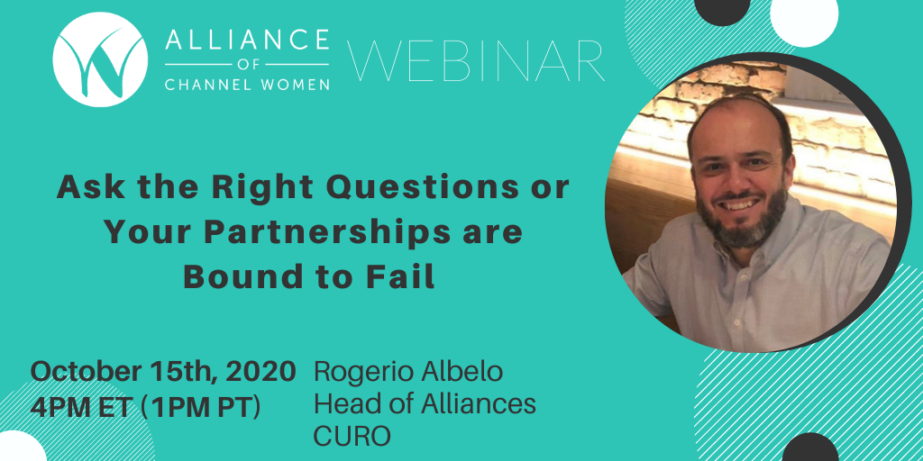 Ask the Right Questions or Your Partnerships are Bound to Fail – October 15 Webinar