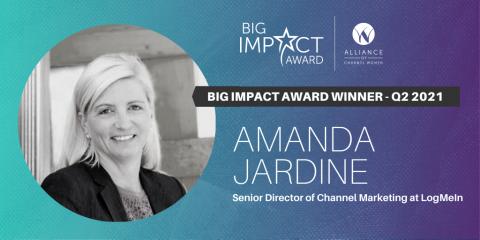 Amanda Jardine Big Impact Award Winner for Technology Channel Leaders